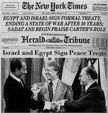 26 marzo 1979, a Washington, Sadat, Carter, Begin.